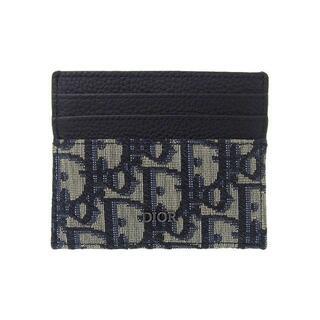 Christian Dior - クリスチャンディオール オブリーク カードホルダー ジャガード×カーフスキン