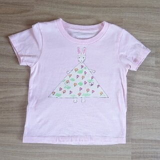 Design Tshirts Store graniph - graniph わたしのワンピース コラボTシャツ100センチ