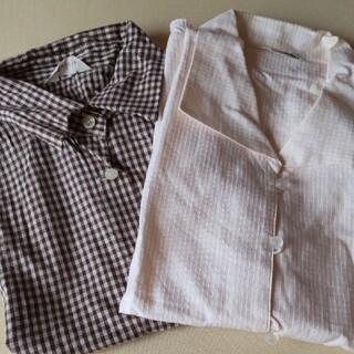 ノースリーブ シャツ ブラウス 開襟 2枚(シャツ/ブラウス(半袖/袖なし))