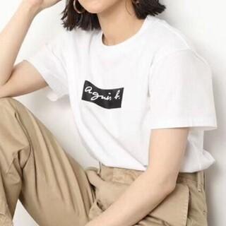 agnes b. - ボックスロゴTシャツ(白)