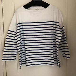 MUJI (無印良品) - 無印良品 ボーダー 7分袖tシャツ
