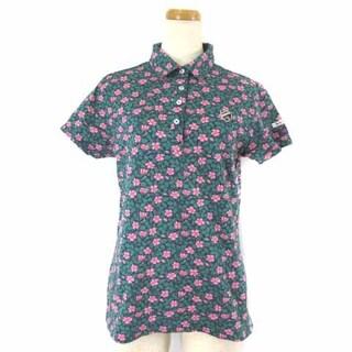 パーリーゲイツ(PEARLY GATES)のパーリーゲイツ ジャックバニー リバティ生地 花柄 ポロシャツ 緑 2 ゴルフ (ポロシャツ)