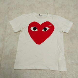 コムデギャルソン(COMME des GARCONS)のPLAY COMME des GARCONS ギャルソン ロゴ Tシャツ(Tシャツ(半袖/袖なし))