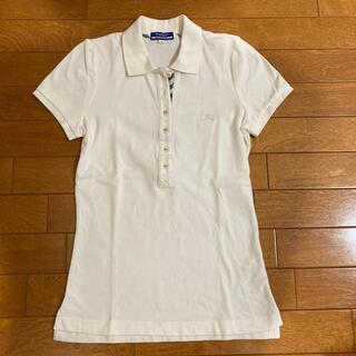 バーバリーブルーレーベル 半袖ポロシャツ サイズ38 M レディース 白