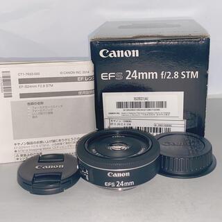 Canon - 【美品】Canon EF-S 24mm F2.8 STM パンケーキレンズ