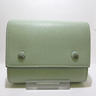 celine - セリーヌ 3つ折り財布 - ライトグリーン