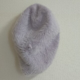 ラベンダー ベレー帽