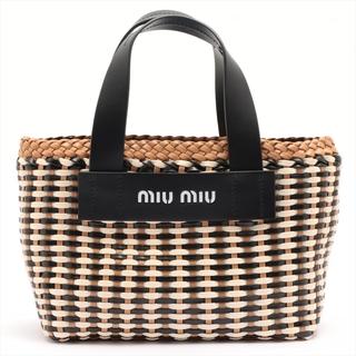 miumiu - ミュウミュウ  レザー  ブラウン レディース ハンドバッグ