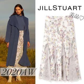JILLSTUART - 【美品】2020AW ジルスチュアート フラワープリントスカート セルフォード