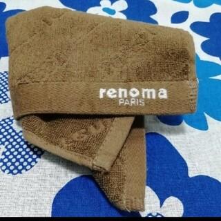 ロベルタディカメリーノ(ROBERTA DI CAMERINO)の新品❥❥レノマ   タオルハンカチ  ロゴエンボス加工(ハンカチ/ポケットチーフ)