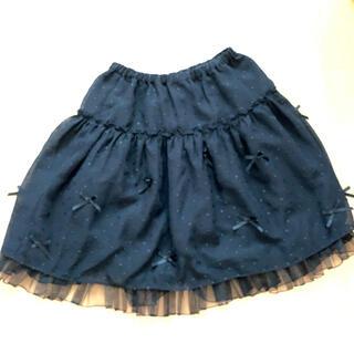 エミリーテンプルキュート(Emily Temple cute)のエミリーテンプルキュート 黒リボンスカート(ひざ丈スカート)