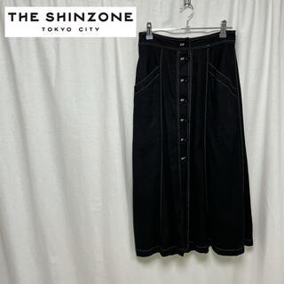 シンゾーン(Shinzone)のTHE SHINZONE シンゾーン ボタン フロント ロングスカート シルク(ロングスカート)
