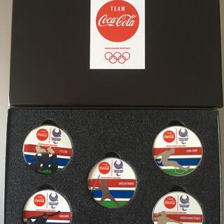 コカコーラ(コカ・コーラ)の東京2020パラリンピックピンズセット(ノベルティグッズ)
