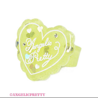 Angelic Pretty - angelic pretty  トッピング ハート リング イエロー