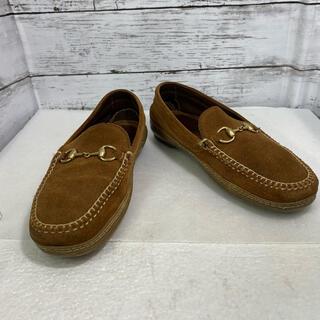 グッチ(Gucci)の【GUCCI】グッチ スエードビットローファー 37M  中古美品(ローファー/革靴)