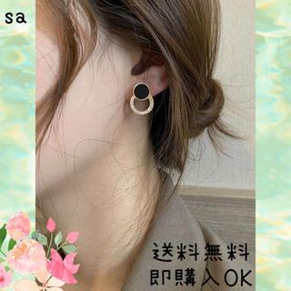 ピアス 黒 韓国 ファッション SALE
