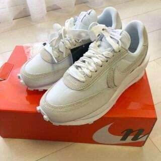 新品25cm Nike x sacai LDV Waffle ホワイト(スニーカー)