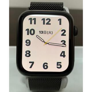 Apple Watch - 【純正ミラネーゼループ2個】アップルウォッチ6 ステンレス 44mm セルラー