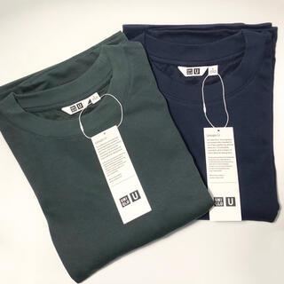 UNIQLO - 【新品】UNIQLO エアリズムコットンオーバーサイズTシャツ(5分袖)L 2枚