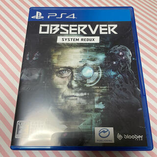 PlayStation4 - 即決⭕️ Observer:System Redux オブザーバー