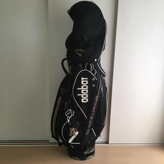 アダバット(adabat)のキャディバッグ ゴルフバック アダバット 黒 ブラック 定価5万 adabat(バッグ)