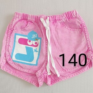 ジャム(JAM)のJAM ジャム ショートパンツ 短パン ビッグプリント 140 ピンク色(パンツ/スパッツ)