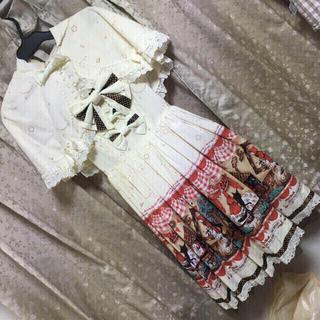 ベイビーザスターズシャインブライト(BABY,THE STARS SHINE BRIGHT)のmy little red riding hoodケープ+JSK/BABY(ひざ丈ワンピース)