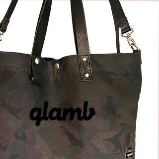 グラム(glamb)の【glamb】迷彩 牛革2WAYデザイン コーティングキャンバストートバッグ(トートバッグ)