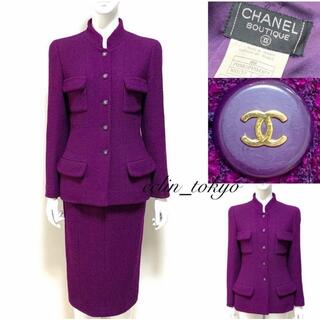 CHANEL - CHANEL vintage ジャケット スカート スーツセットアップE2274