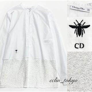 Christian Dior - ディオール《繊細レース》 切替 ブラウス シャツ E2972
