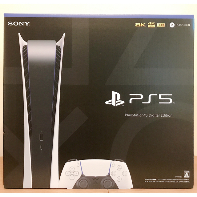 PlayStation(プレイステーション)の【新品・未開封】プレイステーション5  デジタルエディション エンタメ/ホビーのゲームソフト/ゲーム機本体(家庭用ゲーム機本体)の商品写真