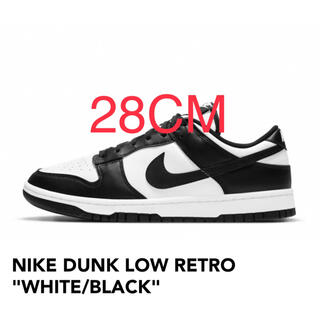 "NIKE - 28cm NIKE DUNK LOW RETRO ""WHITE/BLACK"""