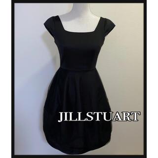JILLSTUART - JILLSTUART ブラックフレアドレス ワンピース