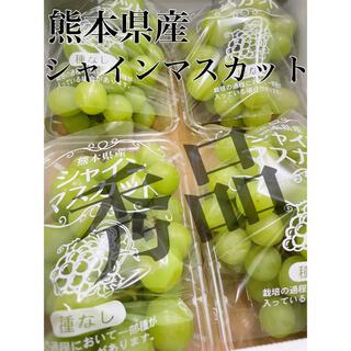 熊本県産【シャインマスカット】秀品 4パック 1.2〜1.4kg