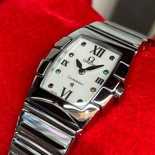 オメガ(OMEGA)のOMEGA コンステレーション クアドレラ ミニ ホワイトシェル マルチカラー(腕時計)