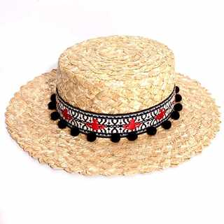 新品同様 ヴィヴィアンウエストウッド 麦わら帽子 カンカン帽