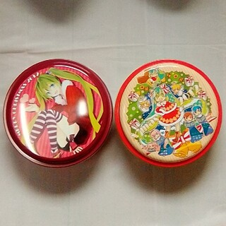 【非売品】初音ミク お菓子缶 X'mas ver 2種セット(キャラクターグッズ)