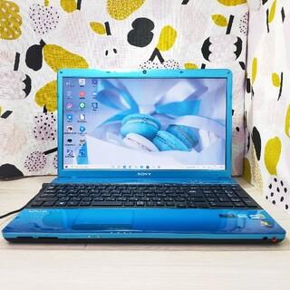ソニー(SONY)の美品✨高性能&大容量♪新品SSD&8GB&i5♪Blu-ray観れます♪動画編集(ノートPC)