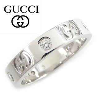 Gucci - グッチ アイコンリング K18WG ダイヤモンド 9号