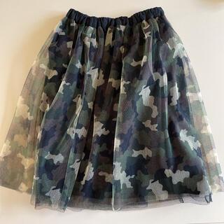 ブランシェス(Branshes)のBRANSHES 可愛いアーミー柄スカート(スカート)