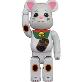メディコムトイ(MEDICOM TOY)のBE@RBRICK 招き猫 白メッキ 発光 400% ×2 (その他)