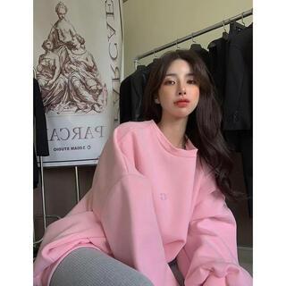 ♡新品♡ オーバーサイズ トレーナー レディース 春服 オルチャン 美品 韓国