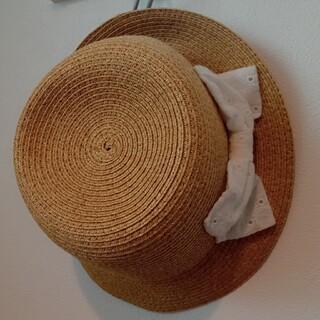 Orange bonbon - オレンジボンボン 麦わら帽子(中古美品・54cm)
