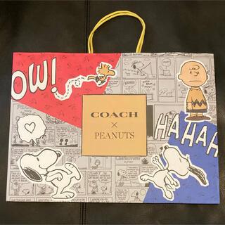 COACH - COACH X PEANUTS 限定 コーチ スヌーピーコラボ 紙袋 ショッパー