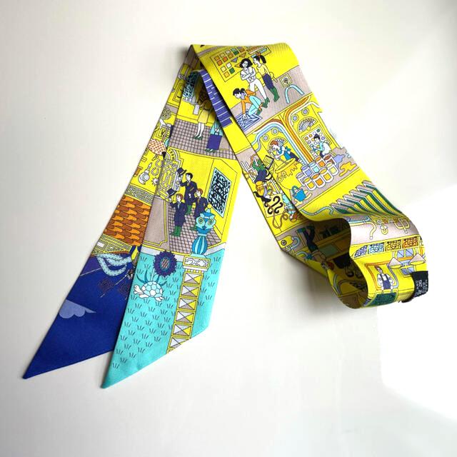 Hermes(エルメス)のエルメス ツイリー メゾンデカレ 黄色 レディースのファッション小物(バンダナ/スカーフ)の商品写真
