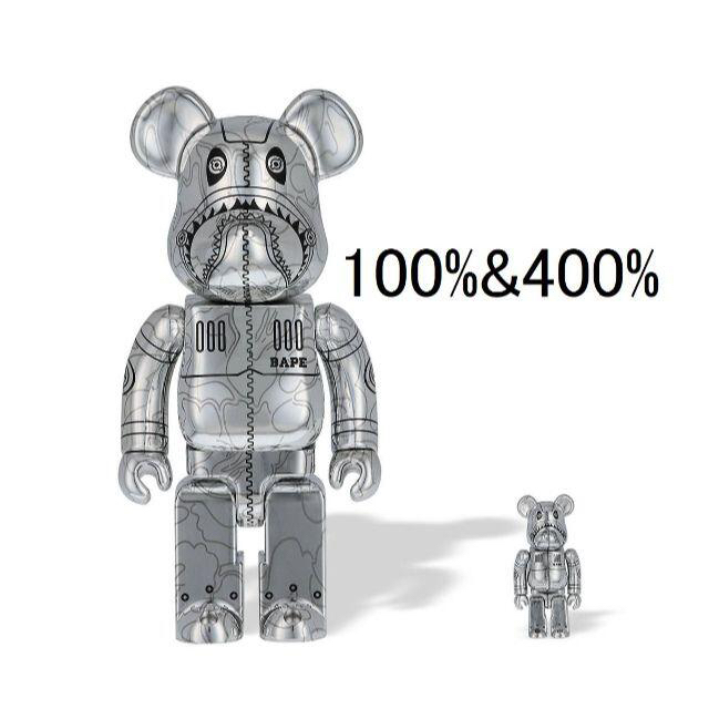 MEDICOM TOY(メディコムトイ)のBAPE SORAYAMA SHARK BE@RBRICK 100%&400% エンタメ/ホビーのフィギュア(その他)の商品写真