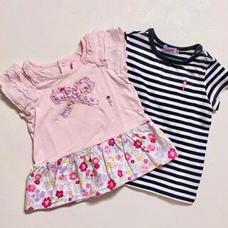 mikihouse - おまとめ ミキハウス 2枚セット Tシャツ チュニック 80 リーナちゃん