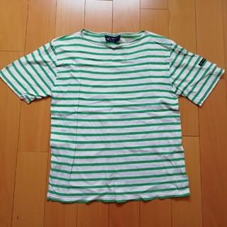 SAINT JAMES - セントジェームス白緑ボーダーTシャツ