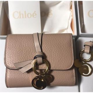 chloeミニ財布 ピンク ベージュ