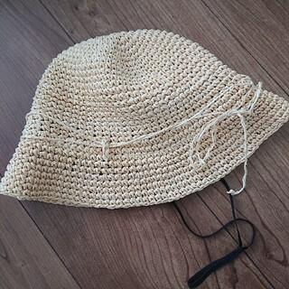 ムジルシリョウヒン(MUJI (無印良品))の無印良品 麦わら帽子 54cm キッズ(帽子)
